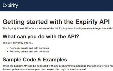 Take advantage of our API